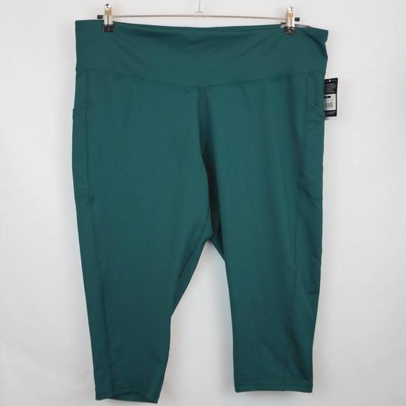 98c26f0f242038 Champion Pants   C9 Green Compression Tight Workout Capris   Poshmark